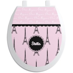 Paris & Eiffel Tower Toilet Seat Decal (Personalized)