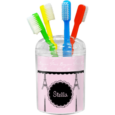 Paris & Eiffel Tower Toothbrush Holder (Personalized)