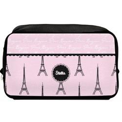 Paris & Eiffel Tower Toiletry Bag / Dopp Kit (Personalized)