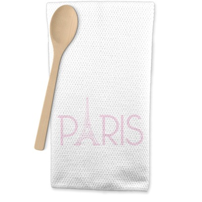 Paris & Eiffel Tower Waffle Weave Kitchen Towel (Personalized)