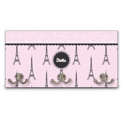 Paris & Eiffel Tower Wall Mounted Coat Rack (Personalized)