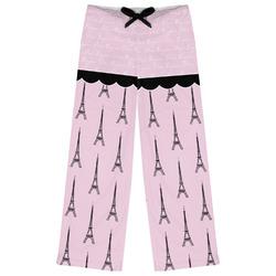 Paris & Eiffel Tower Womens Pajama Pants (Personalized)