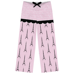 Paris & Eiffel Tower Womens Pajama Pants (Personalized)