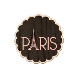 Paris & Eiffel Tower Genuine Wood Sticker (Personalized)