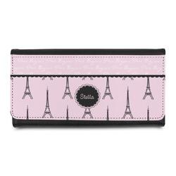 Paris & Eiffel Tower Leatherette Ladies Wallet (Personalized)