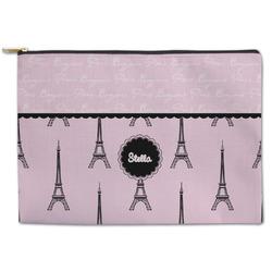 Paris & Eiffel Tower Zipper Pouch (Personalized)