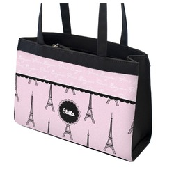 Paris & Eiffel Tower Zippered Everyday Tote (Personalized)