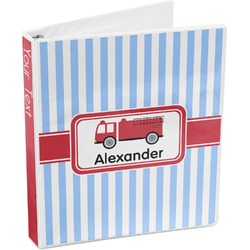 Firetruck 3-Ring Binder (Personalized)