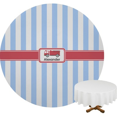 "Firetruck Round Table Cloth - 70"" (Personalized)"