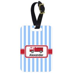Firetruck Aluminum Luggage Tag (Personalized)