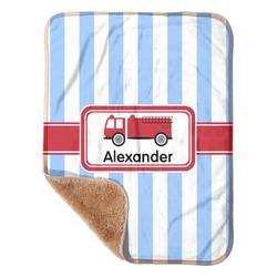 "Firetruck Sherpa Baby Blanket 30"" x 40"" (Personalized)"