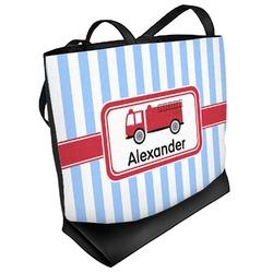 Firetruck Beach Tote Bag (Personalized)