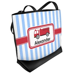 Firetruck Beach Tote Bag (Personalized)