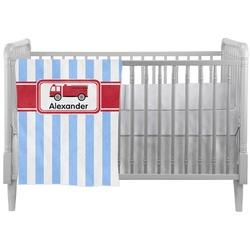 Firetruck Crib Comforter / Quilt (Personalized)