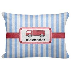 "Firetruck Decorative Baby Pillowcase - 16""x12"" (Personalized)"