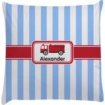 Firetruck Decorative Pillow Case (Personalized)