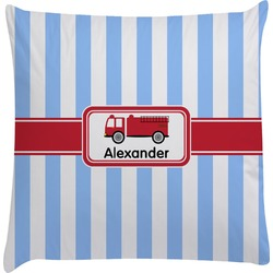 Firetruck Decorative Pillow Case (Personalized)