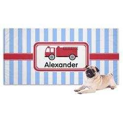 Firetruck Dog Towel (Personalized)