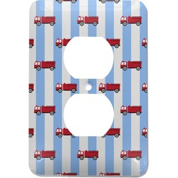 Firetruck Electric Outlet Plate (Personalized)