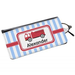 Firetruck Genuine Leather Eyeglass Case (Personalized)