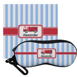 Firetruck Eyeglass Case & Cloth (Personalized)