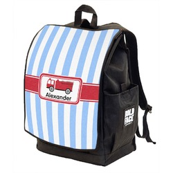 Firetruck Backpack w/ Front Flap  (Personalized)