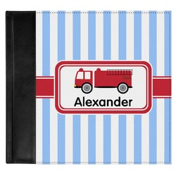 Firetruck Genuine Leather Baby Memory Book (Personalized)