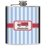 Firetruck Genuine Leather Flask (Personalized)