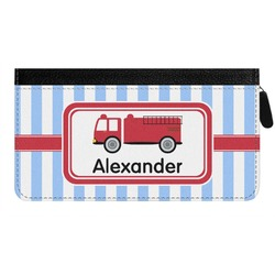 Firetruck Genuine Leather Ladies Zippered Wallet (Personalized)