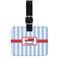 Firetruck Genuine Leather Rectangular  Luggage Tag (Personalized)