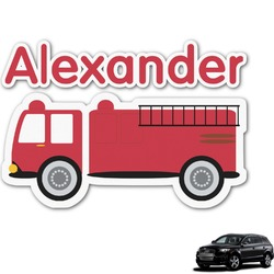 Firetruck Graphic Car Decal (Personalized)