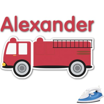 Firetruck Graphic Iron On Transfer (Personalized)