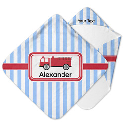Firetruck Hooded Baby Towel (Personalized)