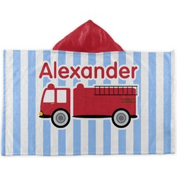 Firetruck Kids Hooded Towel (Personalized)
