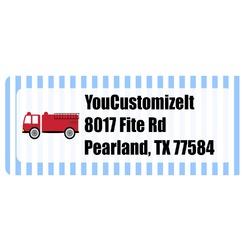 Firetruck Return Address Labels (Personalized)