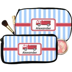 Firetruck Makeup / Cosmetic Bag (Personalized)
