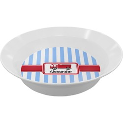 Firetruck Melamine Bowls (Personalized)