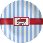 Firetruck Melamine Plate (Personalized)
