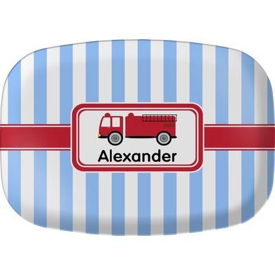 Firetruck Melamine Platter (Personalized)