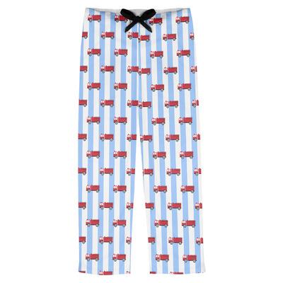 Firetruck Mens Pajama Pants (Personalized)