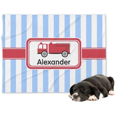 Firetruck Dog Blanket (Personalized)