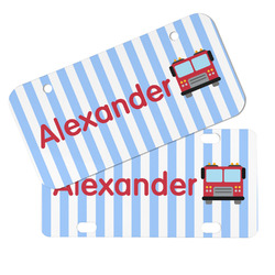 Firetruck Mini/Bicycle License Plates (Personalized)