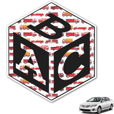 Firetruck Monogram Car Decal (Personalized)