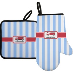 Firetruck Oven Mitt & Pot Holder (Personalized)