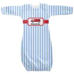 Firetruck Newborn Gown - 3-6 (Personalized)