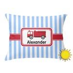 Firetruck Outdoor Throw Pillow (Rectangular) (Personalized)