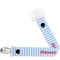 Firetruck Pacifier Clips (Personalized)