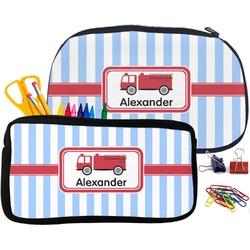 Firetruck Pencil / School Supplies Bag (Personalized)