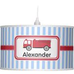Firetruck Drum Pendant Lamp (Personalized)