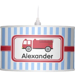 Firetruck Drum Pendant Lamp (Personalized)